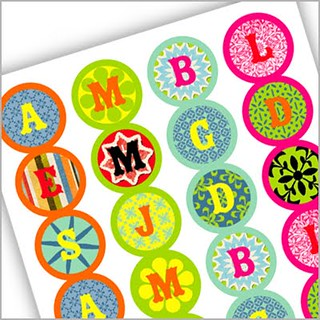 Name Initial Stickers