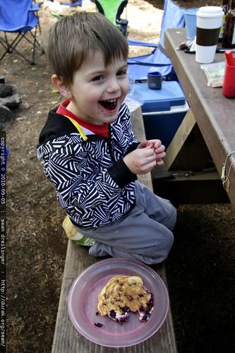 jen made him a blueberry pancake