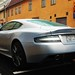 Aston martin DBS light blue