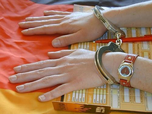 Wristwatch handcuffed