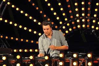 Techno DJ at work