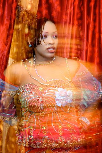 <p>Oumou Sows living room is a jewelbox of style and color.</p>