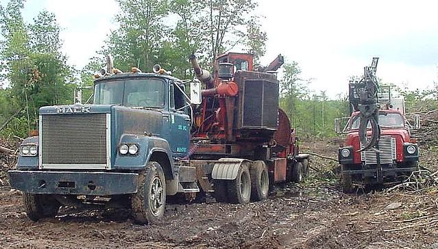 Logging Equipment Sits Idle On Sunday Sabattus Maine Flickr