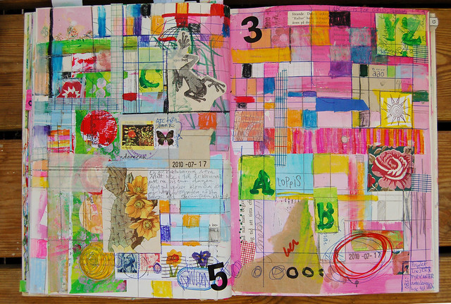 Art Journaling with Grids & Lines