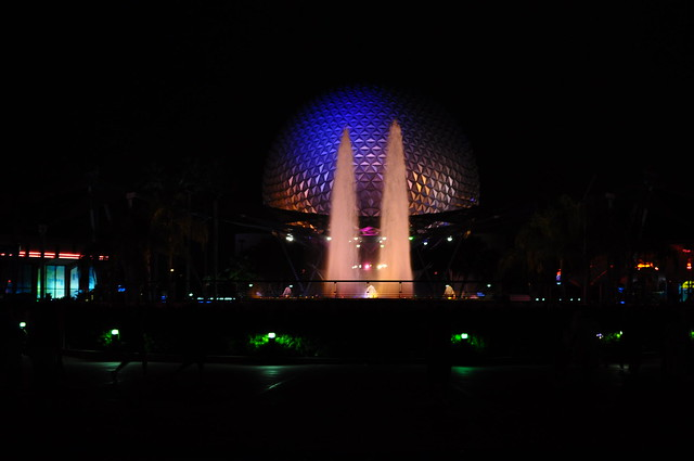 Epcot by night