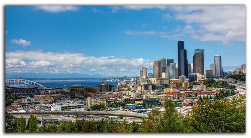 seattle detail field skyline architecture photoshop canon buildings landscape eos washington high downtown dynamic chad district pano hill panoramic international adobe wa seahawks quest range beacon hdr mcdonald xsi topaz skyscrapper cs4 photomatix 450d