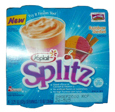 Yoplait Splitz Rainbow Sherbet Package Flickr Photo