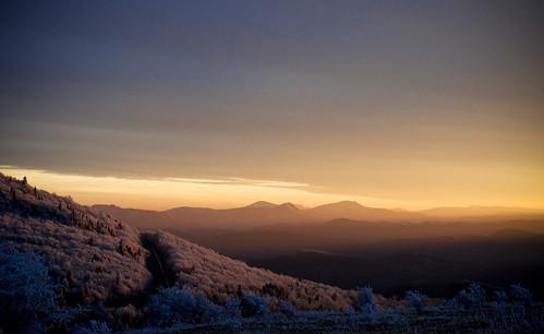 winter sunset snow virginia damascus appalachia appalachians graysonhighlandsstatepark pflandscape