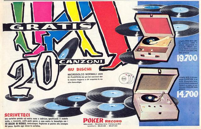 adv - 1960 - dischi - fonografi