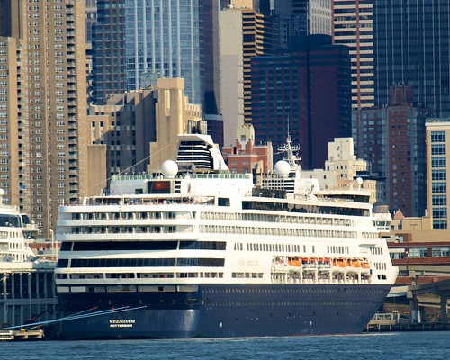 VEENDAM Cruise Ship, Manhattan Passenger Ship Terminal, Hudson River, New York City by jag9889