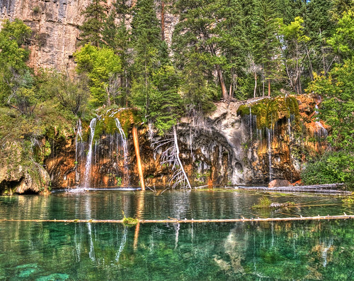 travel mountains reflection water reflections rockies outdoors waterfall moss nikon colorado stream hiking waterfalls rockymountains mountainlake hdr hdri hanginglake glenwoodcanyon greatphotographers mossystream d80 nikond80 hanginglakewaterfall