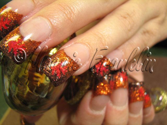 Rockstar nails for fall | Flickr - Photo Sharing!