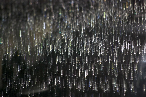 night raindrops windshield