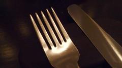 kitchen knife(0.0), fork(1.0), cutlery(1.0),