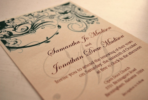 Sam and Jon's invitation