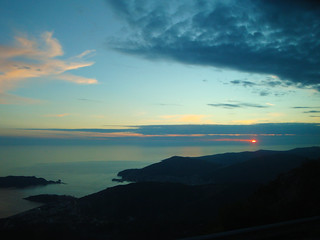 sunset- becici and budva, montenegro