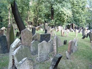 Tombstones On The Prague Jewish Cemetery