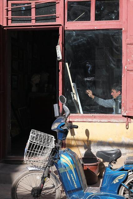 カシュガル旧市街、芸術家のアトリエ