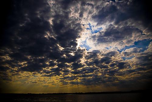 morning blue sky orange water colors clouds bay florida salt eastbay parker panamacity baycounty beamsoflight tyndallairforcebase streamsoflight flickraward5