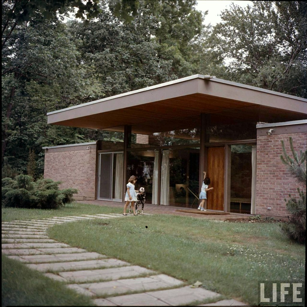 Midcentury Modern Home Detail Resources: Ulrich Franzen – Beattie Residence (1958)
