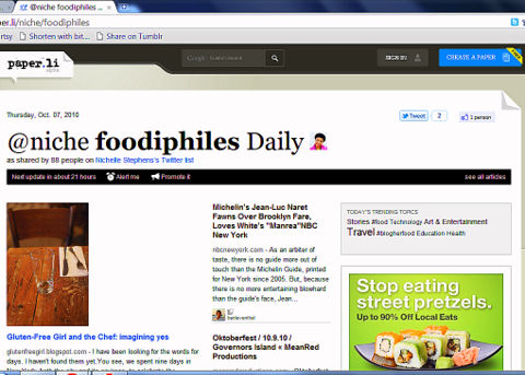foodphiles, paperli, automation, curation, content creation