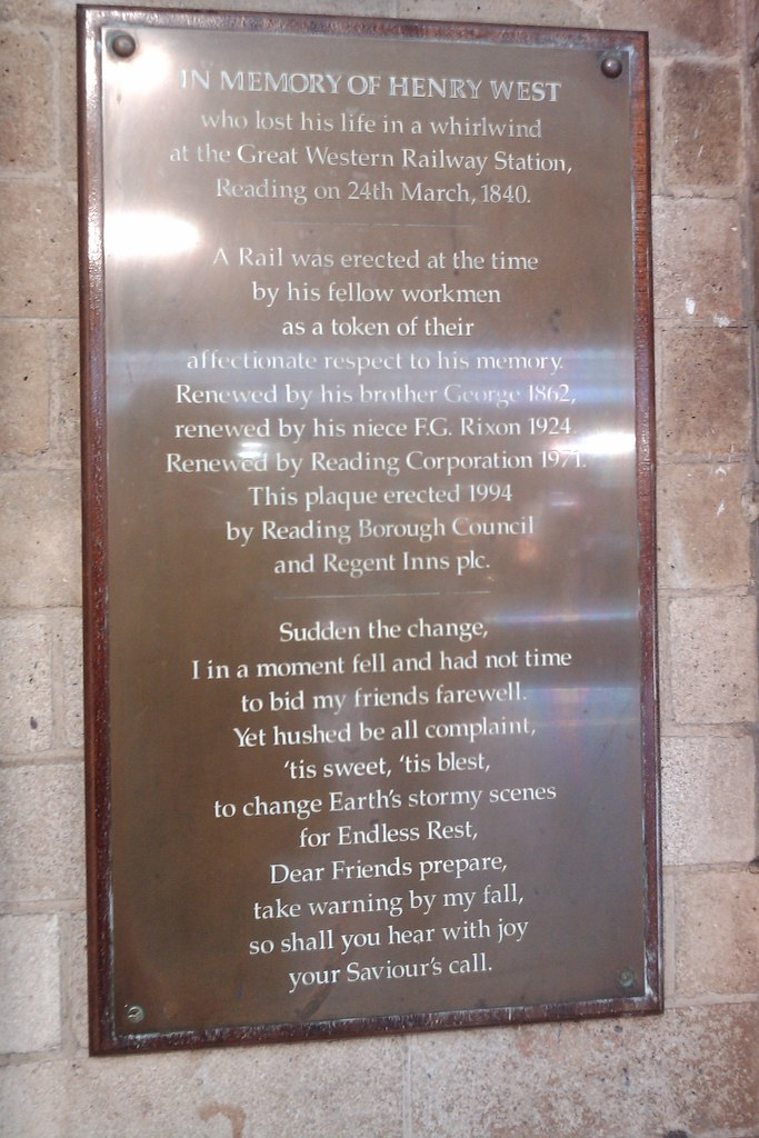 Reading Station plaque