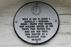 Photo of Faversham Fire Station white plaque