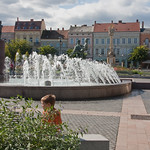 Fountain in the main square of Szombathely