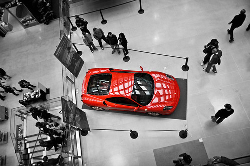 Ferrari in mall