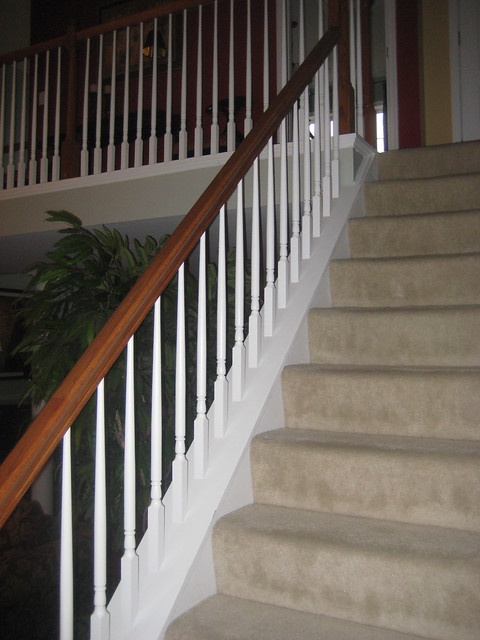wrought iron baluster installation before and after (6)  Flickr ...