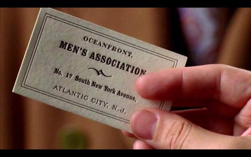 Letterpress Business Card in Boardwalk Empire