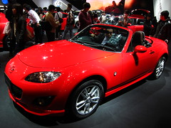 automobile, automotive exterior, exhibition, vehicle, automotive design, mazda mx-5, mazda, auto show, land vehicle, luxury vehicle, sports car,