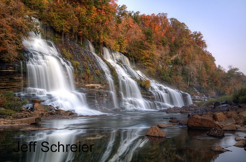 fall rock landscape island waterfall tn tennessee twin falls hdr 2010 photomatix 山のしだれ