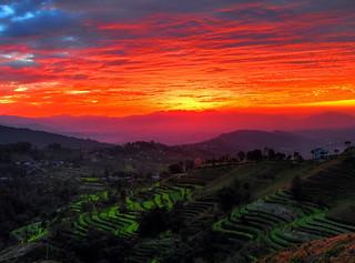 Kathmandu Valley Sunset