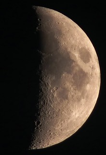 Waxing Crescent, 43% of the Moon is Illuminated late afternoon sunset capture on November 12, 2010