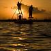 Redfish sunrise by Maarten Bruinenberg Fly Fishing Photography