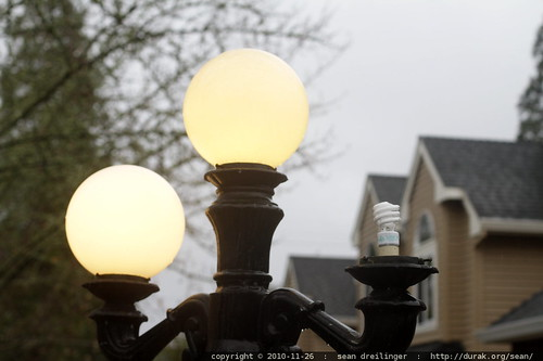 even the gaslamps have converted to CFL