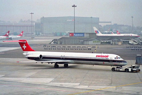 Swissair MD-81; HB-INC@ZRH;26.01.1996