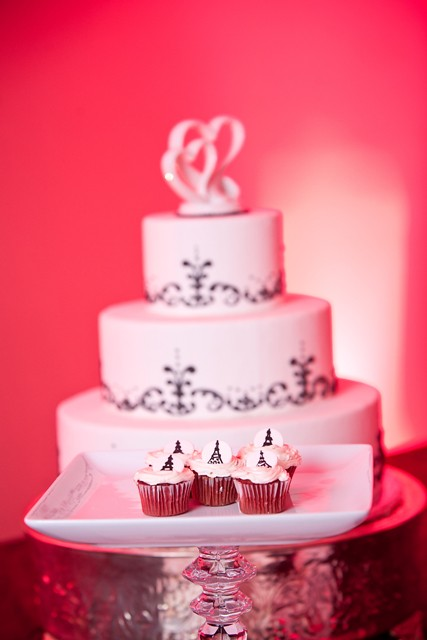 Parisian themed wedding cakes