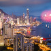 Fireworks over Victoria Harbour, Hong Kong by William C. Y. Chu