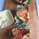 Grillbrötchen mit Paprikapute