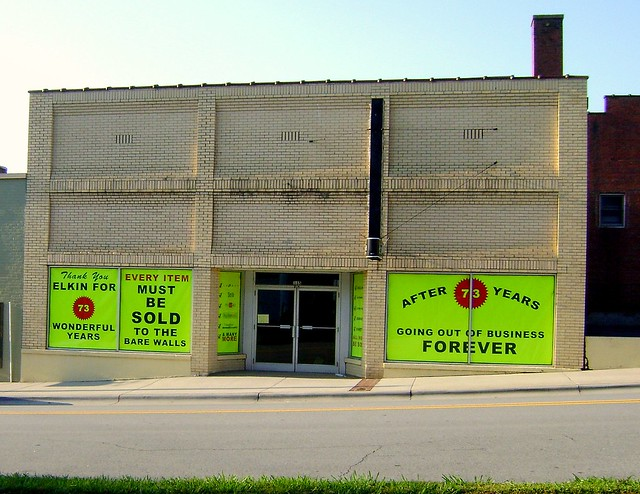 home furniture elkin nc going out of business old a p store vanishing america flickr. Black Bedroom Furniture Sets. Home Design Ideas