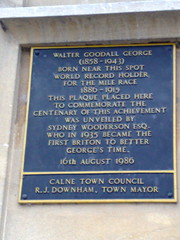 Photo of Walter George blue plaque