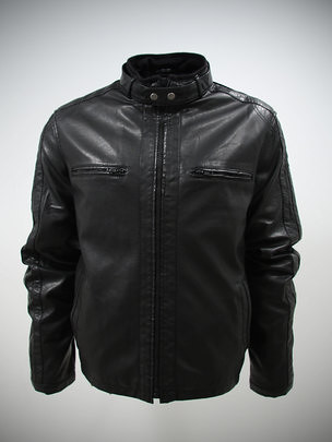 Details about Biker Leather look Jacket Men L