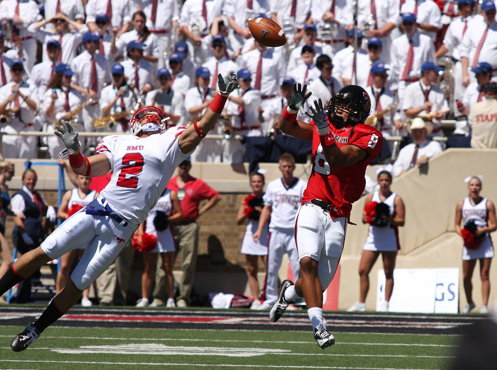 Sterling Moore breaks up the pass - SMU v. Texas Tech