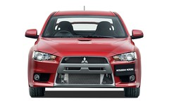 model car(0.0), automobile(1.0), automotive exterior(1.0), vehicle(1.0), automotive design(1.0), mitsubishi lancer(1.0), mitsubishi(1.0), bumper(1.0), mitsubishi lancer evolution(1.0), land vehicle(1.0), luxury vehicle(1.0),