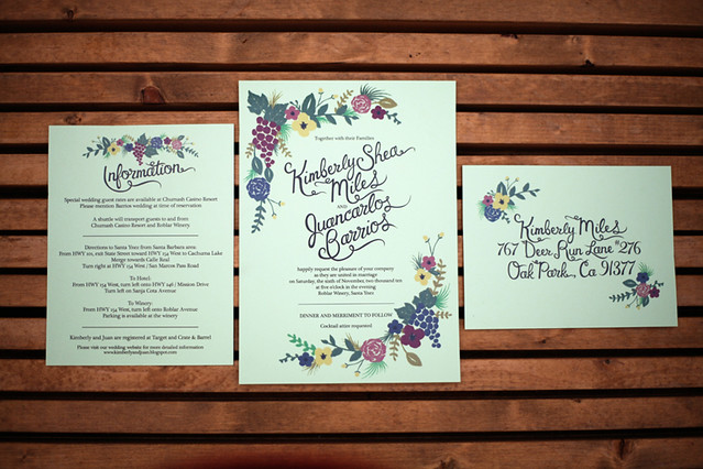 Tagged fall wedding stationery vineyard wedding invitation