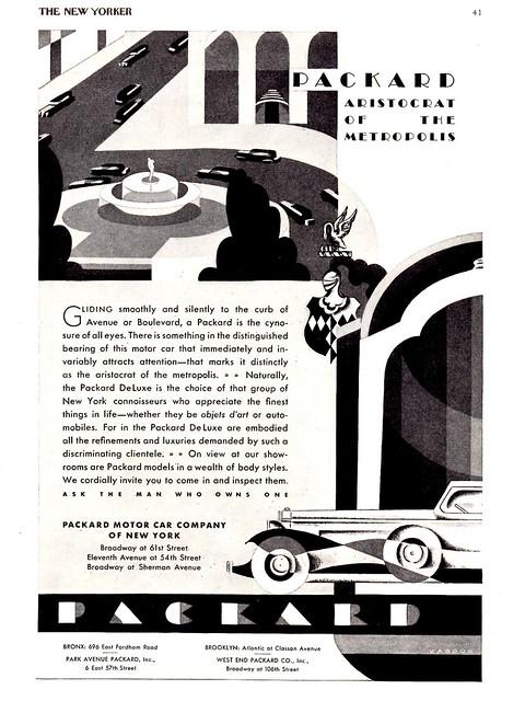 1931 Packard New York Dealers Ad, Aristocrat of the Metropolis