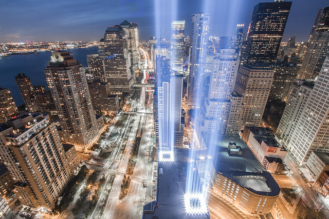 The 2010 Tribute in Light (9/11 Memorial)