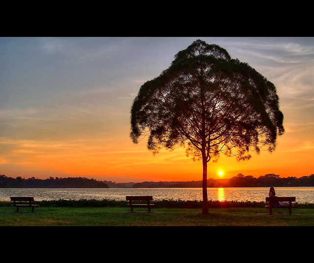 Upper Seletar Reservior Sunset, Singapore - HDR